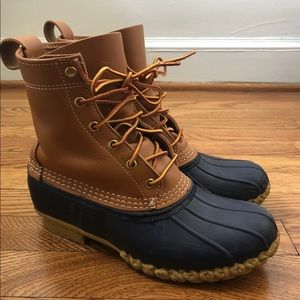 Navy LL BEAN Boots || Size 8